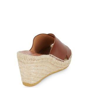 98330c4b341 Bettye Muller Shoes - Dijon Leather Wedge Espadrille Mule Sandals